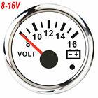 52mm Boat Car Auto For Voltmeter Meter Pointer Voltage Volt Gauge 8-16v