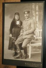 Paar - Frau Tracht & Soldat Uniform Orden Stiefel IR 88 KAB Biedenkopf Laasphe