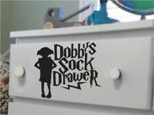 "Harry Potter Fan Art Dobby's Sock Drawer Sticker Decal 15cm x 21cm, 6"" x 8.5"" in"
