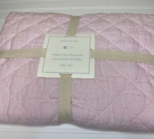 Pottery Barn BELGIAN FLAX LINEN TODDLER QUILT Pink  NWT Baby Girl (2 available)