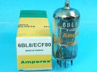AMPEREX ECF80 6BL8 ORANGE GLOBE VACCUM TUBE MADE IN FRANCE HAM TESTS NOS  A08