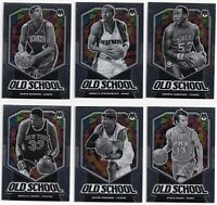 2019-20 Panini Mosaic Old School SP 6 Card Lot! Iverson Ewing Nash & More!