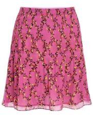 NEW! DVF/Diane Von Furstenberg Tayte Shirred Chiffon Pink Floral Skirt Sz12