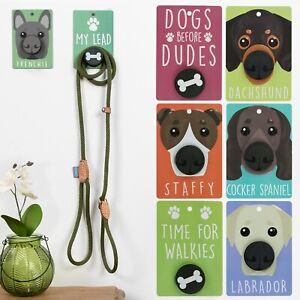 Pooch Pals - Dog Lead Holder Wall Mounted Plaqued Hook Pop Hanger Socket Breeds