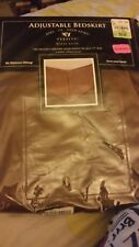Veratex Adjustable Bed Skirt King Taupe New in package