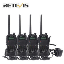 4xRetevis RT5 1750Hz Dual Band CTCSS/DCS Scan 128CH 8W  VOX FM Two Way Radio US