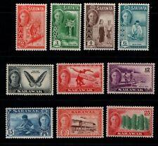 Sarawak 1950 King George VI selection to 25c SG171-76, 178-81 Mint MH