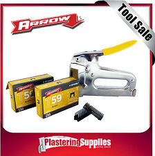 Arrow T59  Insulated StapleWire Tacker Data Video Cable Stapler & Staples Combo