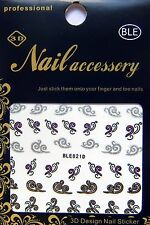 Nailart Nagel Sticker Tattoo Schnörkel, Ornament, Verzierung, Kringel BLE821D