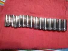"""Blue Point 3/8"""" 15 pc Deep Metric 12 point 10mm - 24mm, MADE BY Snap On"""