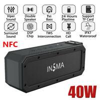 40W bluetooth Speaker Wireless Portable Waterproof Subwoofer Stereo Boombox