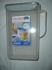 FRIDGE DOOR Water Bottle/JUG, FLIP TOP LID WITH SPOUT. POLYPROP BPAFREE HAP735