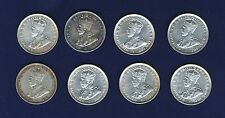 AUSTRALIA 1 SHILLING SILVER COINS:1916, 1917, 1918, 1920, 1925, 1926, 1927, 1936