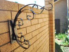 French Iron Scroll Garden Plant Pot Lamp Hook Hanger Br