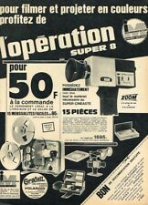 C- Publicité Advertising 1967 Projecteur et Camera Super 8 intermanufactures