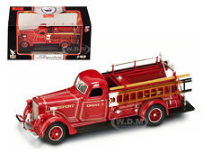 1939 AMERICAN LAFRANCE B-550RC FIRE ENGINE RED 1/43 BY ROAD SIGNATURE 43007