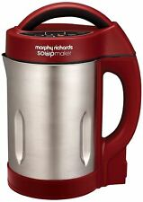 Morphy Richards 501018 Soup & Smoothie Maker 1.6L - Red, Stainless Steel, 1000W