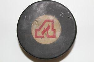 Vintage Rare Double Sided Art Ross Converse Hockey Puck ATLANTA FLAMES Georgia