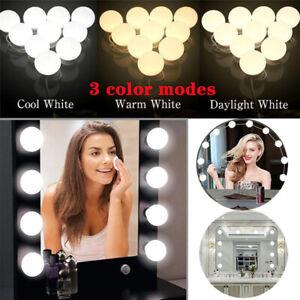 Hollywood Make Up Mirror Lights 3 Modes 10 Led Vanity Dressing Table Bathroom UK