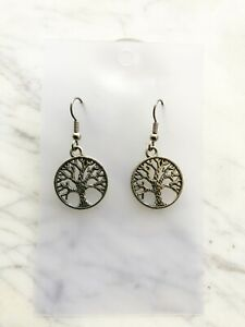 Tree Of Life Earrings Witch Pagan Celtic Native American Astrology