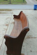 Antique Church Pew Bench (9 feet) Curved Back