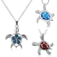 trendy elegantes geschenk kette schmuck sea turtle - anhänger opal - kette