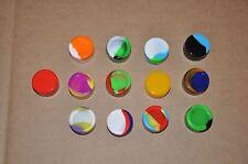 Concentrate 12 TWELVE 5 ML Silicone Container Random Colors Non Stick Jar