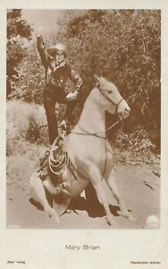 Mary Brian Horse Acrobatics Western Cowgirl Original 1930s Photo Postcard Ross