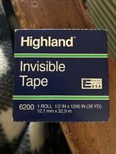 New Lot Of 3highland 6200 Invisible Tape Matte Finish 12 X 1296 36 Yd