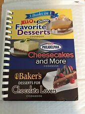 3 Books In 1 Favorite Desserts, Cheesecake & More, Desserts For Chocolate Lovers