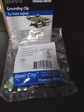 1 Bag ~ Thomas&Betts Steel City Grounding Clip GEE-B10-10 (10 Clips per Bag)