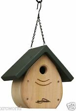 Kettle Moraine Tear Drop Nestbox Wren & Chickadee Bird House green roof 9100grn