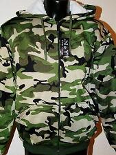 Thermojacke Jacke grün camouflage Army  Fell  M L XL XXL