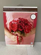 Martha Stewart Crepe Paper Rose Bouquet Kit Make 12 Roses