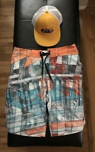 Collectible Nike 6.0 hat and professional surfing trunk From US Open of surfing
