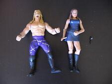 Stephanie McMahon-Helmsley & Chris Jericho Action Figures Lot 2001 Jakks WWF WWE