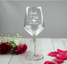 Novia y el novio Grabado copa de vino, parejas Boda Regalo Personalizado