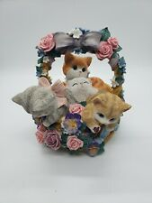 Kittens in a Flower Basket The San Francisco Music Box Company Cat