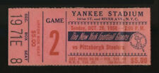 1958 NEW YORK GIANTS FOOTBALL TICKET STUB vs STEELERS (10/26) AT YANKEE STADIUM
