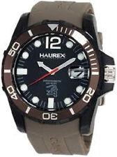 Haurex N1354UNG Men's Caimano Series Date Unidirectional Bezel Brown Band Watch