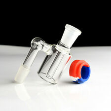 14mm Glass Ash Collector with Silicone Container Water Smoke Pipe Accessories
