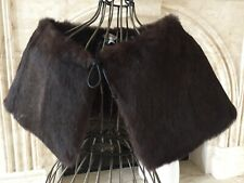 Central Falls Co. Rabbit  Fur Shawl, Poncho  ( M  )