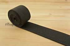 5 yards 1.5 inch polyester-mixed cotton webbing for purse strap deep brown ZA5