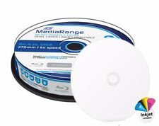 10 Mediarange BDR BD-R DL Double Layer 50GB 270 min Printable 6x cakebox MR509