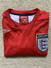 Official Umbro England Football Shirt Red Jersey XL Soccer Mens Medium Gold Star