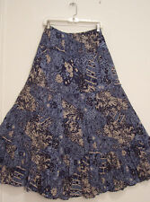 STYLE & CO 5 Tiered 100% COTTON Lined FLORAL Hippie Peasant Broomstick Skirt L