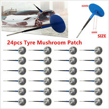 24x Natural Rubber Car SUV Truck Tyre Puncture Repair Wired Mushroom Patch 6mm