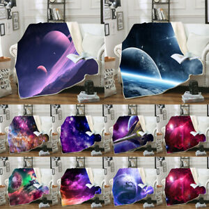 Art Starry Sky Space Blanket Bedding Sofa Couch Flannel Blankets Throws Decor