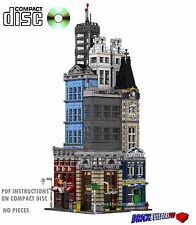 CD Modular Super City, Lego Custom Instructions cafe, 10182, corner New York #33