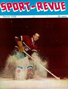 1956 Sport Revue - French Canadian NHL Hockey Magazine w/36 Pages EX